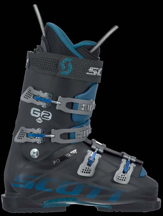 SCOTT G2 130 POWERFIT 239772 New for the 2015-16 season, SCOTT s G2 POWERFIT 130 features POWERFIT shell technology and a thermoformable liner in a hard-charging 130 flex.