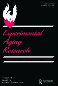 Experimental Aging Research An International Journal Devoted to the Scientific