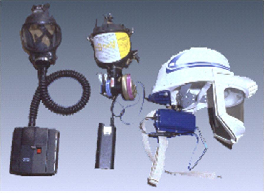 Figure 4 Powered Air-Purifying Respirators (Photo courtesy of OSHA) Tight-Fitting Respirator Facepieces Tight-fitting air-purifying respirators are available with half-face or full-face respirator