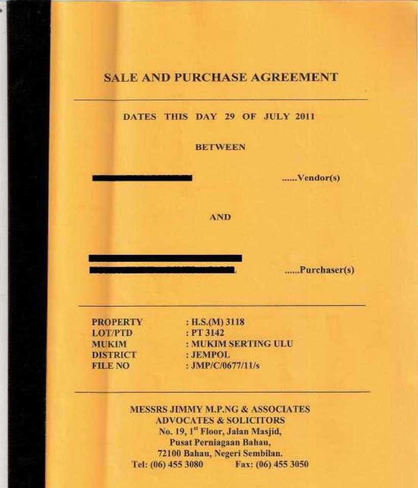 17. Sales and purchase agreement