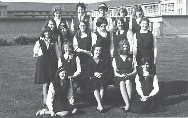 Jennifer with her Class Dominican Convent 1965 Less than 50 out of 500 who finished primary that year went on to secondary school.