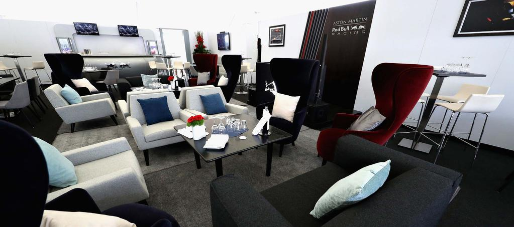 Your 3-day ticket will provide you access to our exclusive Aston Martin Red Bull Racing Paddock Club Suite, includes: Exclusive suite for guest of Red Bull Racing above the F1 team garages and Pit