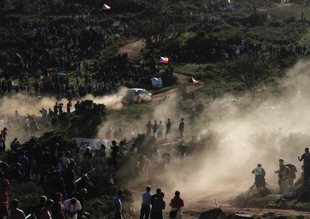 OPENING SHOT The World Rally Championship s Rallye Italia Sardegna is a fantastically popular event, on the scenic