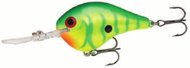 DT (Dives-to) Code: DT Floating Deep Diving Rapala's first balsa crankbait with an internal rattle Thin tail design Balsa wood construction Pulls easily through the water Quick-dive resting position