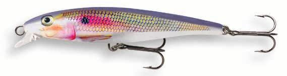 Rapala LC Long Casting Minnow Code: LC Floating Shallow Runner Super long casting lure Balsa body with a patent pending weight transfer system Minnow type body Super shallow runner Rolling swimming