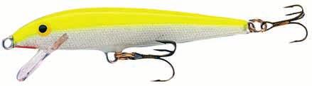 Rapala Original Code: F Floating The first Rapala lure (designed by Lauri Rapala, 1936) The most popular Rapala lure, a true bestseller Unweighted balsa body lure with a lifelike wounded minnow