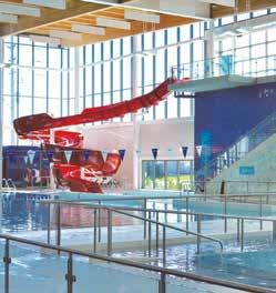 5 Metres Deep in Deep End Brampton Lifesaving Club Underwater Hockey and Rugby Sauna and hot tub on pool deck Slide Diving Board Lap Pool Male / Female Change Rooms Brampton Lifesaving