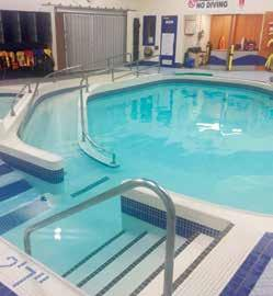 Shallow water teaching steps for lessons Access to fitness centre with hot tub, sauna and corresponding change rooms (with valid membership) Chris Gibson Chris Gibson 125 McLaughlin Road North 905.