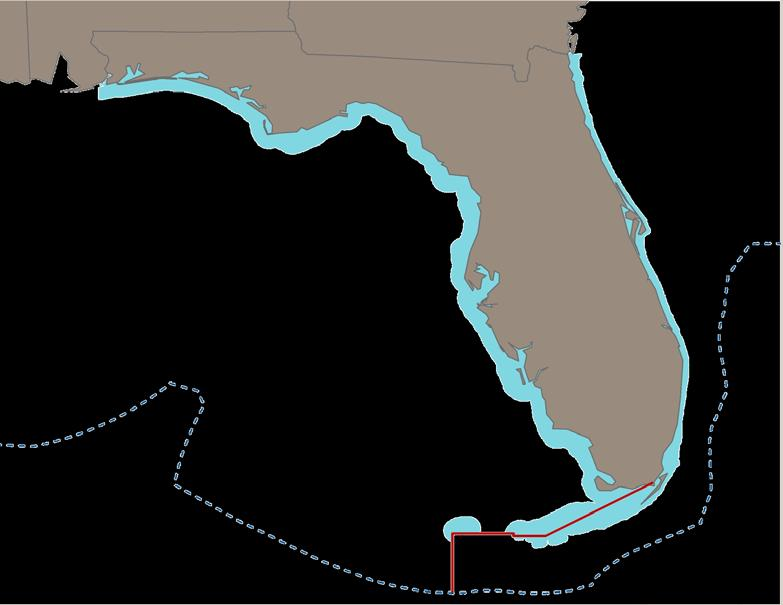 Area of Jurisdiction FWC regulations are in effect for all State waters 3 miles from shore on the Atlantic coast 9 miles from shore on the Gulf FWC