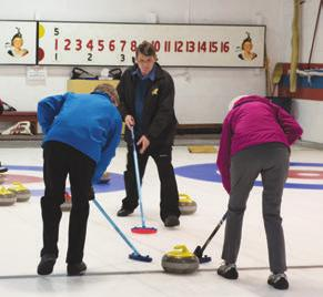 Our four-sheet rink is an integral part of the club and curlers enjoy