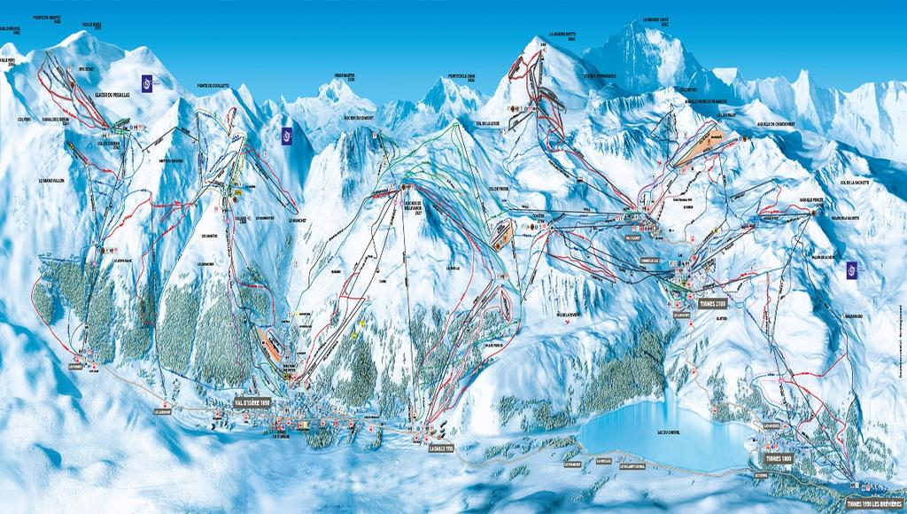 Ski area: SKI AREA: TIGNES VAL AREA From 1550m to 3450m 300km of
