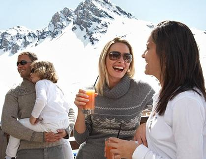 Get a soft drink for the kids and somethig comforting for yourself before heading back to the slopes.