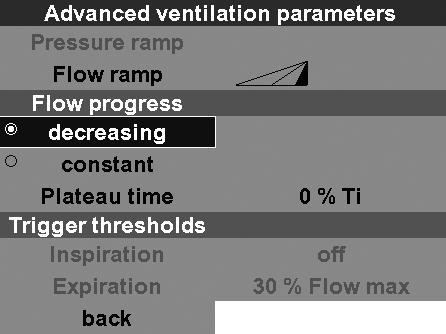 Flow progress With this function you can set the flow progress.