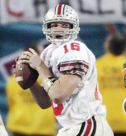 depaul Draddy Award (1995) 24-3 record as starting quarterback Led Buckeyes to 2002 national championship Craig Krenzel was a two-year starter at quarterback for the Buckeyes.