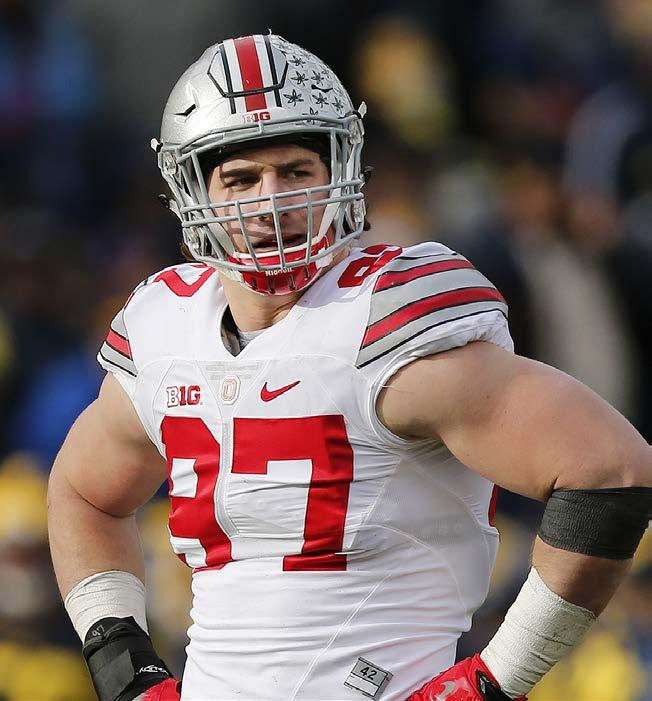 as the best center in college football. Bentley was a three-year starter for the Buckeyes.