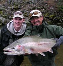 STEELHEAD Description: There is something to be said about the steelhead when anglers travel thousands of miles in hope of catching a few of these hard-fighting and