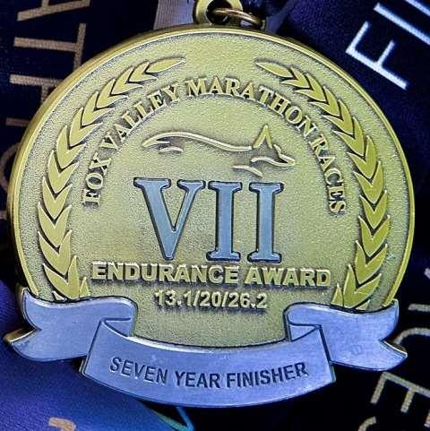 2 marathon will qualify as one of the races for an Endurance Award as part of the Fox Valley Marathon family of races.