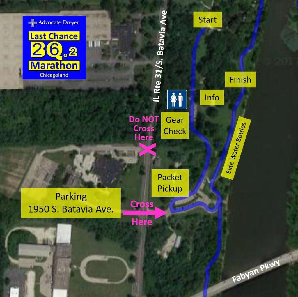Race Morning Details Below is a map showing areas for: Runner parking Packet pick-up