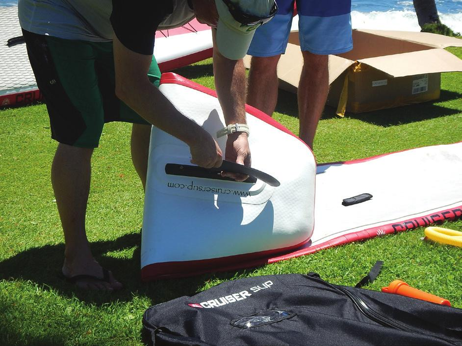 Ensure that you are lining the two pins on either side of the base of the fin up with the track inside of the fin box.