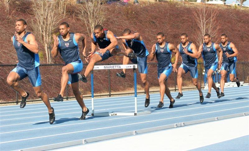Preparation for Take-Off for Remaining Hurdles in Race Similar to