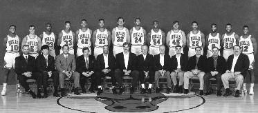 1992-1993 CHICAGO BULLS Left to right: (front row): Supervisor of European Scouting Ivica Dukan, Scout/Special Asst. Jim Stack, Scout/Special Asst. Clarence Gaines, Jr.