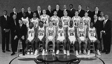 2000-2001 CHICAGO BULLS Left to right: (front row): Head Coach Tim Floyd, Ja
