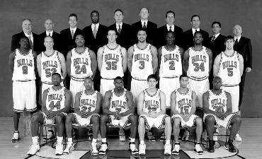 2004-2005 CHICAGO BULLS Left to right: (front row): Adrian Griffin, Chris Duhon, Ben Gordon, Kirk Hinrich, Jannero Pargo, Frank Williams.