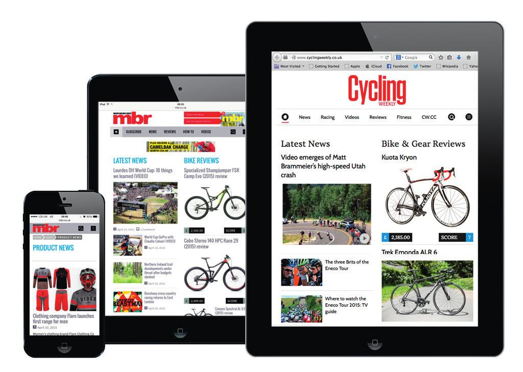 6 million unique users during July 2016 made Cycling Weekly the biggest UK cycling website* and proved the success of our investment in online
