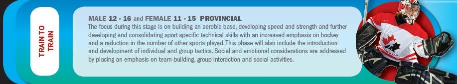 This phase will also include the introduction and development of individual and group tactics.