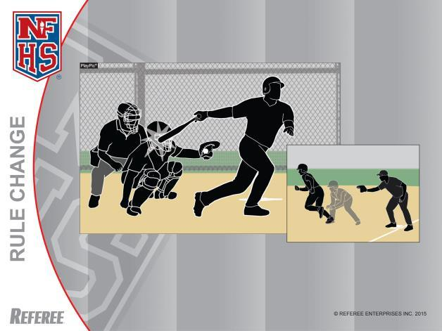 Foul Ball Rule 2-16-1f Follow-through Interference Rule 2-21-4 Even though this batter has one foot completely outside the batter s box, the contact with the ball occurred before the front foot was