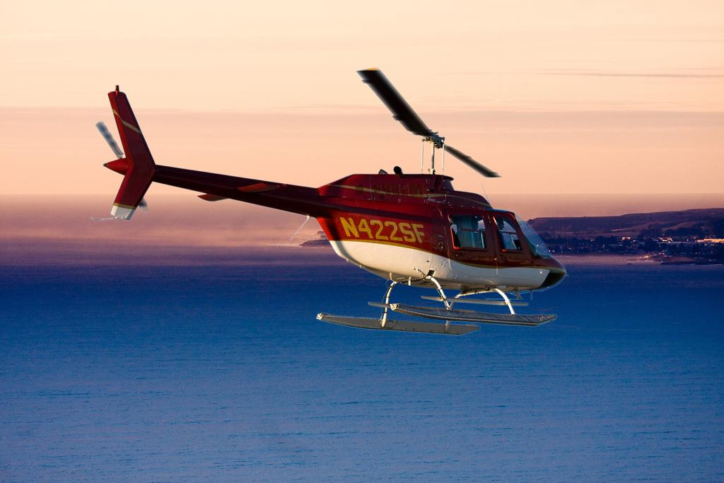 HELICOPTER RIDE Experience a once-in-a-lifetime opportunity to see a Santa Cruz sunset from a different