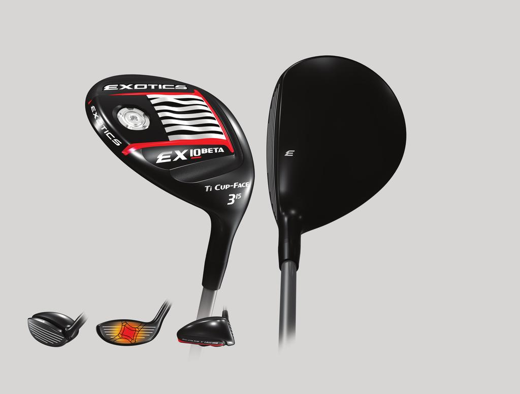 BETA FAIRWAY WOOD 910 BETA TI CUP FACE Thinner, stronger face material delivers Exotics legendary feel and power TRADITIONAL SHAPE Classic pear-shaped head inspires confidence at address touredge.