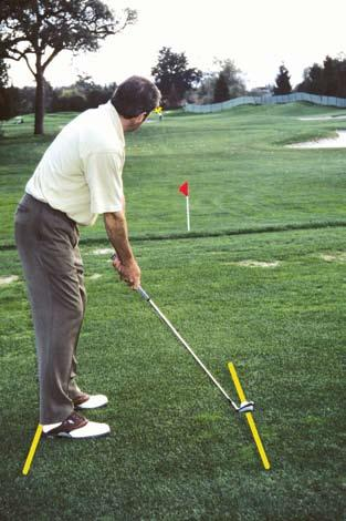 The Ideal Setup First, stand directly behind the ball while facing your target.