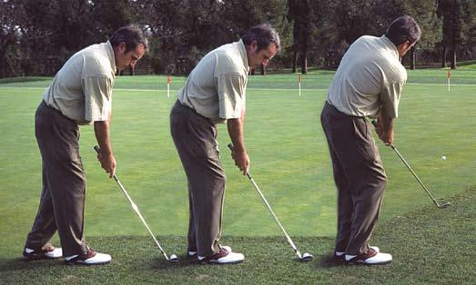 Chipping & Pitching The same routine for woods and irons is followed for chips and pitches.