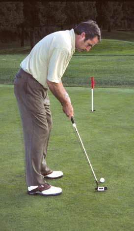 However, the clubface is aimed at the target, and your shoulders and chest should be parallel to the target line as with regular, full-swing shots.