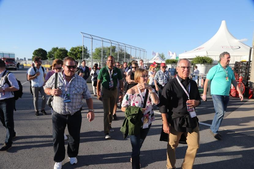 personnel and garages during our Pit Lane Walk, access to which is
