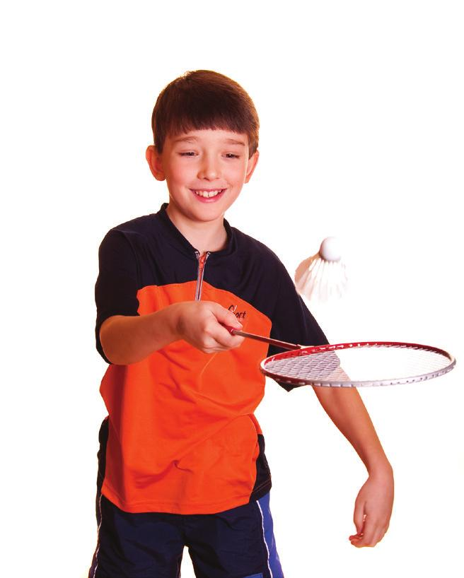 BADMINTON Beginning to Advanced 7-1Y Badminton-specific footwork patterns will be motivated for all students.