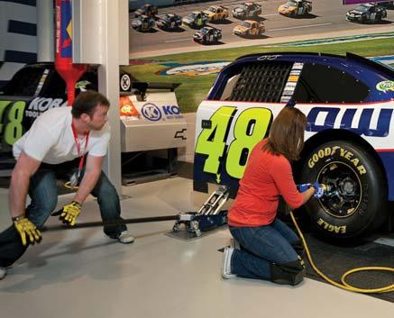 RACE WEEK & HERITAGE SPEEDWAY The third and fourth floors of the NASCAR Hall of Fame are known as
