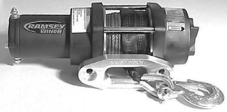 Ramsey Winch Company OWNER'S MANUAL ATV Electric Winch Model ATV3000 with Synthetic Rope Note: Fairlead does not attach directly to winch.