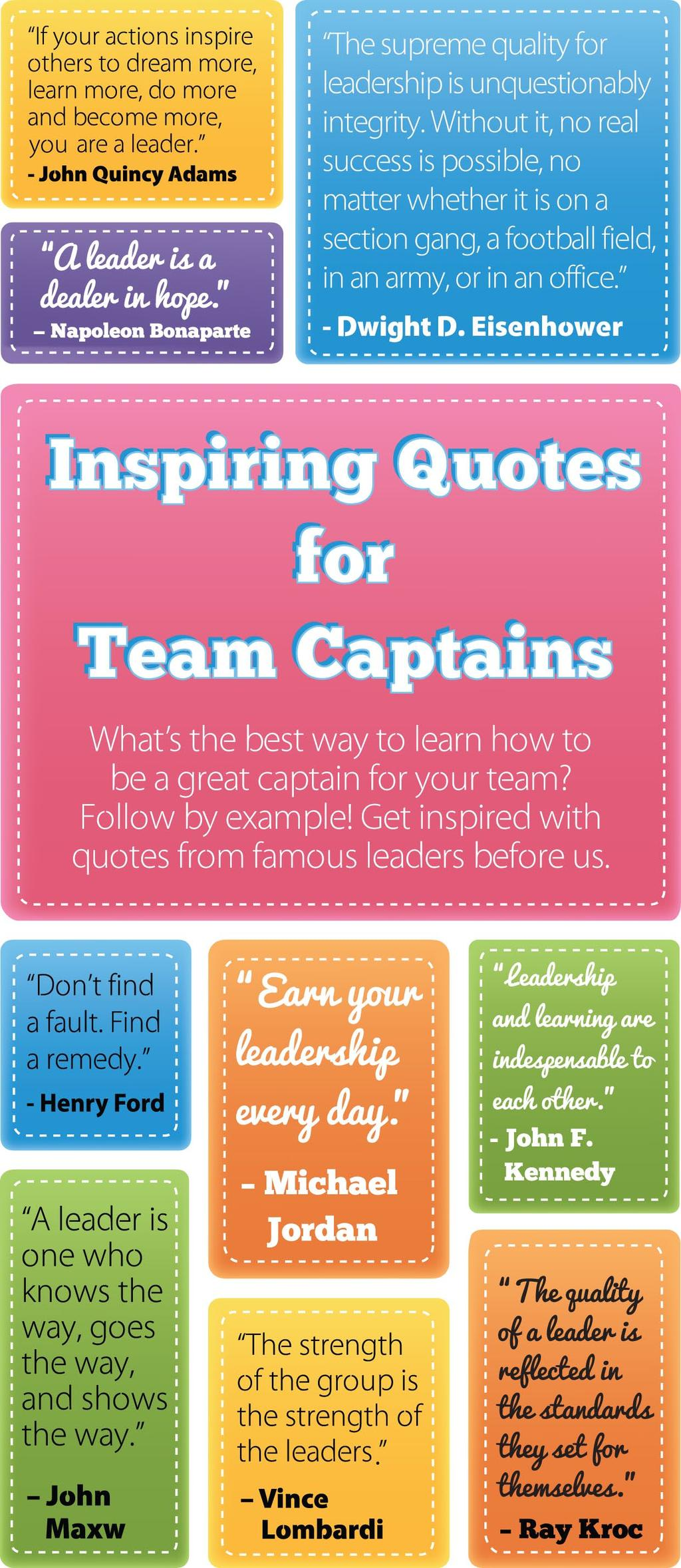 leaders before us team idea Why not create your own vault of quotes and advice?