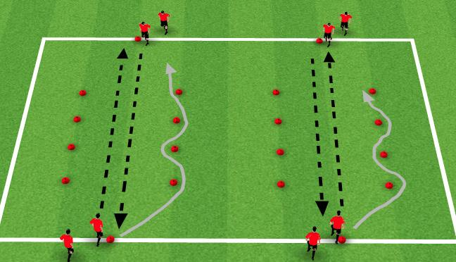 Receiving skills Weight and accuracy of pass Quality of footwork through ladder Right foot only Left foot only Receive with one foot and pass with other 3 touches before passing One touch passing