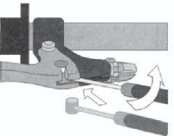 Brake installation Brake Cable Installation 1. Attach the upper cable to the brake lever. Ensure that the adjusting barrel is fully tightened in the brake lever. 2.