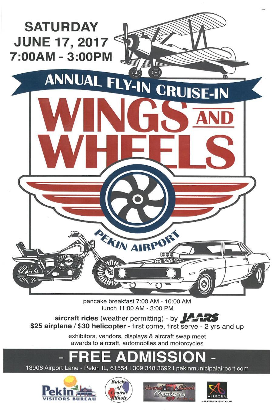 Its time for the pekin airport wings and wheels this saturday. I hope the club will have more planes,gliders,helicopters and drones on display than we had last year.