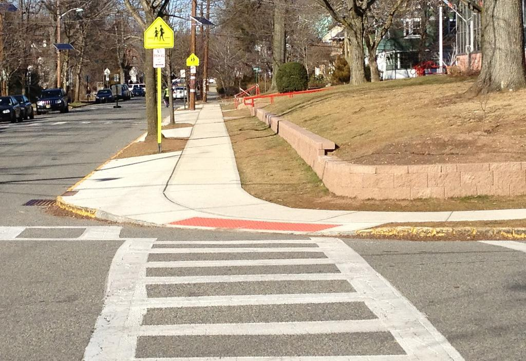 This is especially important for people using wheelchairs, strollers, walkers, crutches, handcarts, and pedestrians who have trouble stepping up and down high curbs.
