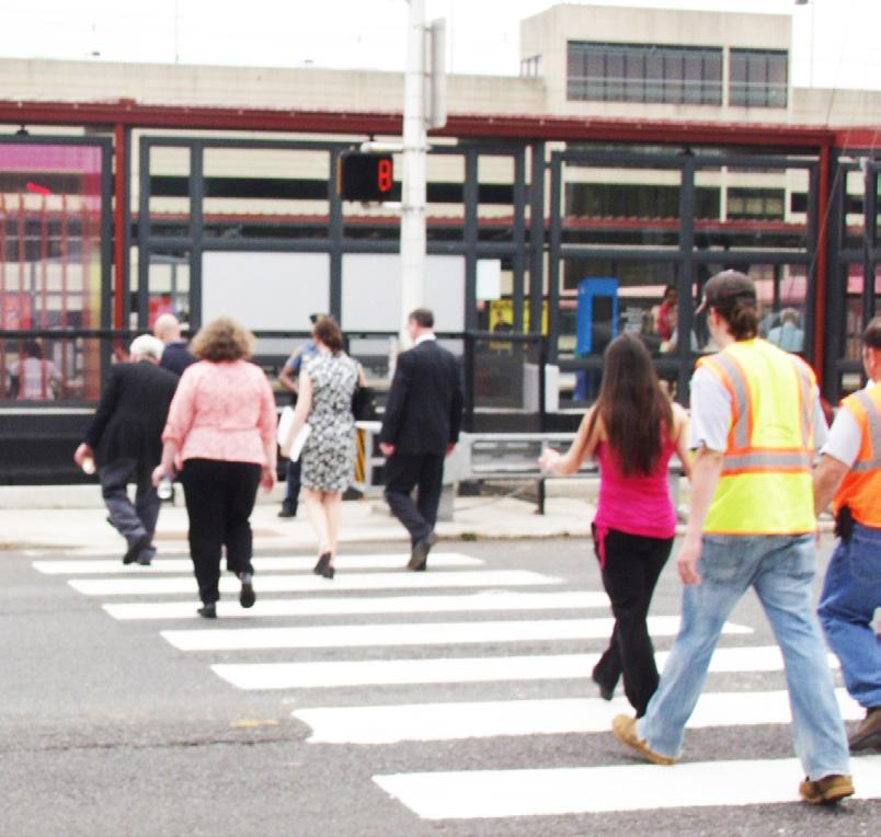 At this point, the pedestrian will push an easy to reach button that activates the beacon.