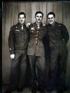 Stan and two friends who were waiting to be sent home in 1945 after the war. Photo courtesy of Stan I enlisted in the U.S. Army on December 7, 1942, exactly one year after Pearl Harbor, he said.