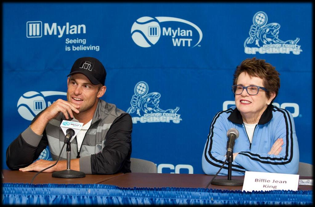 As co-founder of Mylan World TeamTennis, Billie Jean King continues to promote the sport and impact local Mylan WTT communities at the