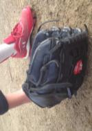 To present as much glove as possible to the ball, instruct the players to have the palm of their glove face the ball and to gently press the finger tips of their glove into the