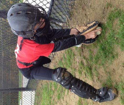 worse hit the catcher in an unprotected area around the neck.