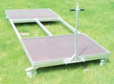 Aluminium basic frame profile: Total weight approx 80-100 Kg 10390: Steeplechase hurdles for the 3000 m distance. Length 3.96 m.